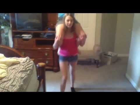 sisters gymnastics dance to turn me on