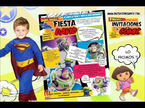 Invitaciones de cumplea os para imprimir tipo comic o - Invitacion para cumpleanos ...