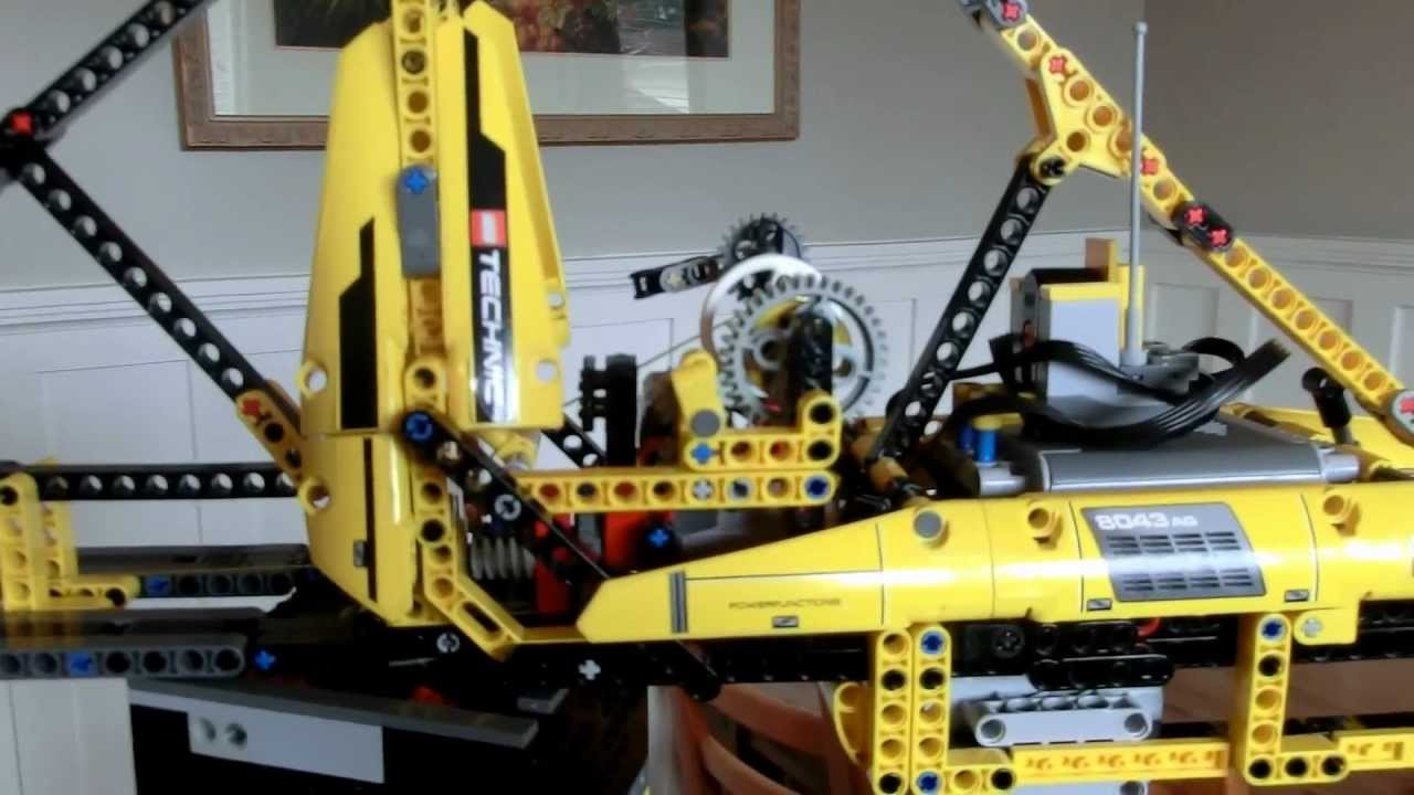 Lego Tower Crane Remote Controlled Youtube