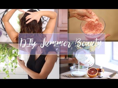 DIY Summer Beauty Treatments (Blood Orange Scrub, Natural Deodorant, Facial Mist)