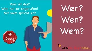 Learn German | Common Mistakes in German | Wer? Wen? oder Wem? | A1 | A2
