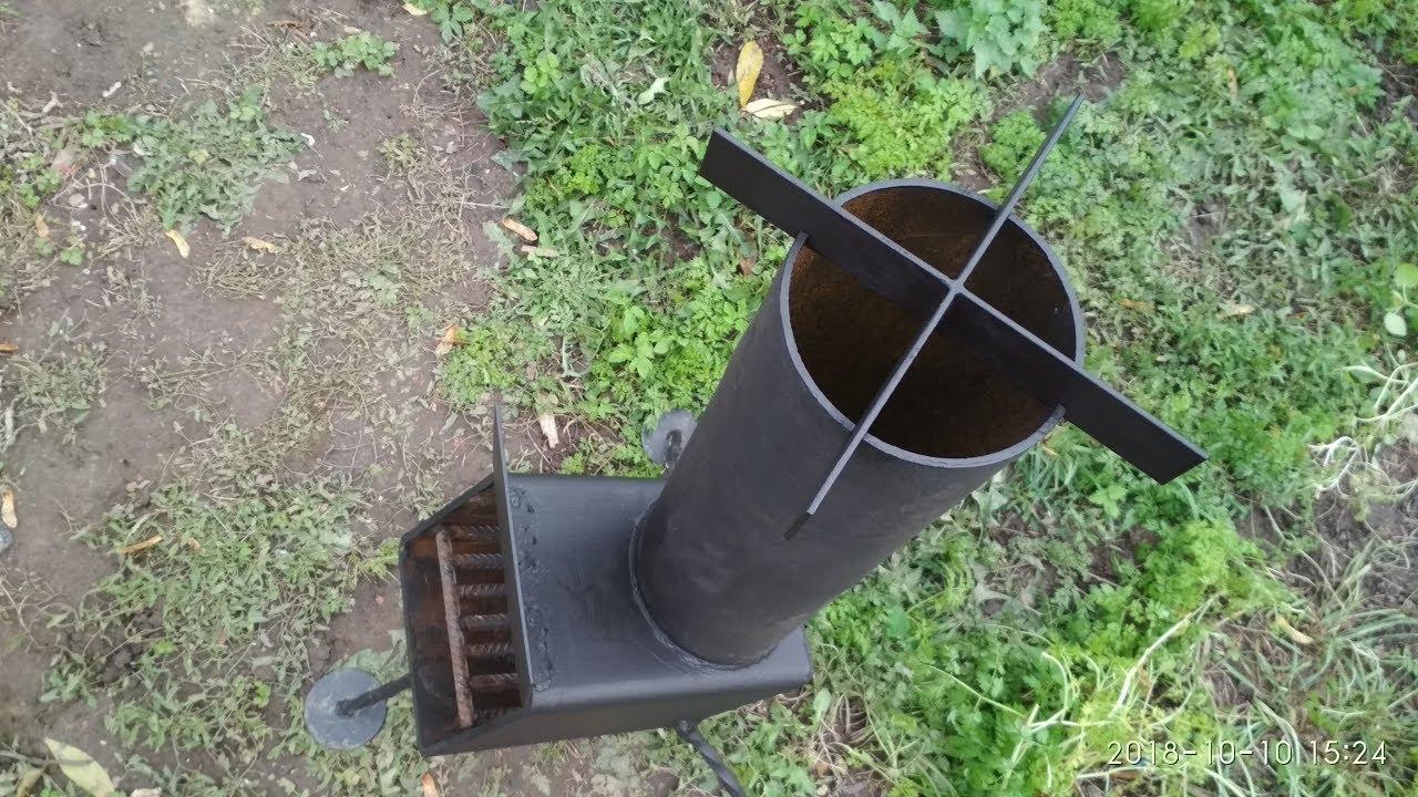 Супер печь, турбо-печь для сада, огорода, СВОИМИ РУКАМИ!