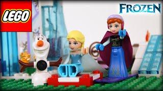 ♥ LEGO Disney Frozen Elsa & Anna Build Sparkling Ice Castle Build & Frozen Short Movie Making Olaf