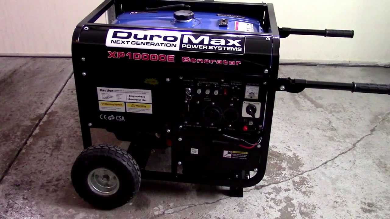 Duromax Xp10000e Generator Review And Operation Youtube
