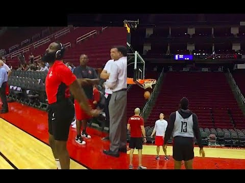 8ab9e651bfd3 James Harden on Fire Even during Rockets  Warmups! - YouTube