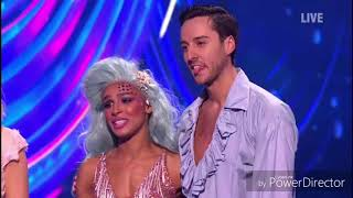 Melody Thornton and Alexander Demetriou skating in Dancing on Ice (Fairytales Week) (3/2/19)