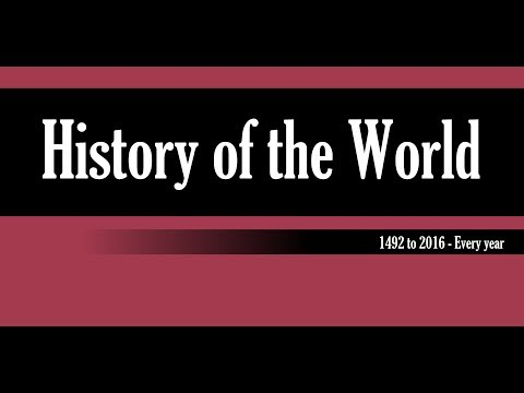 The History of the World: 1492-2016