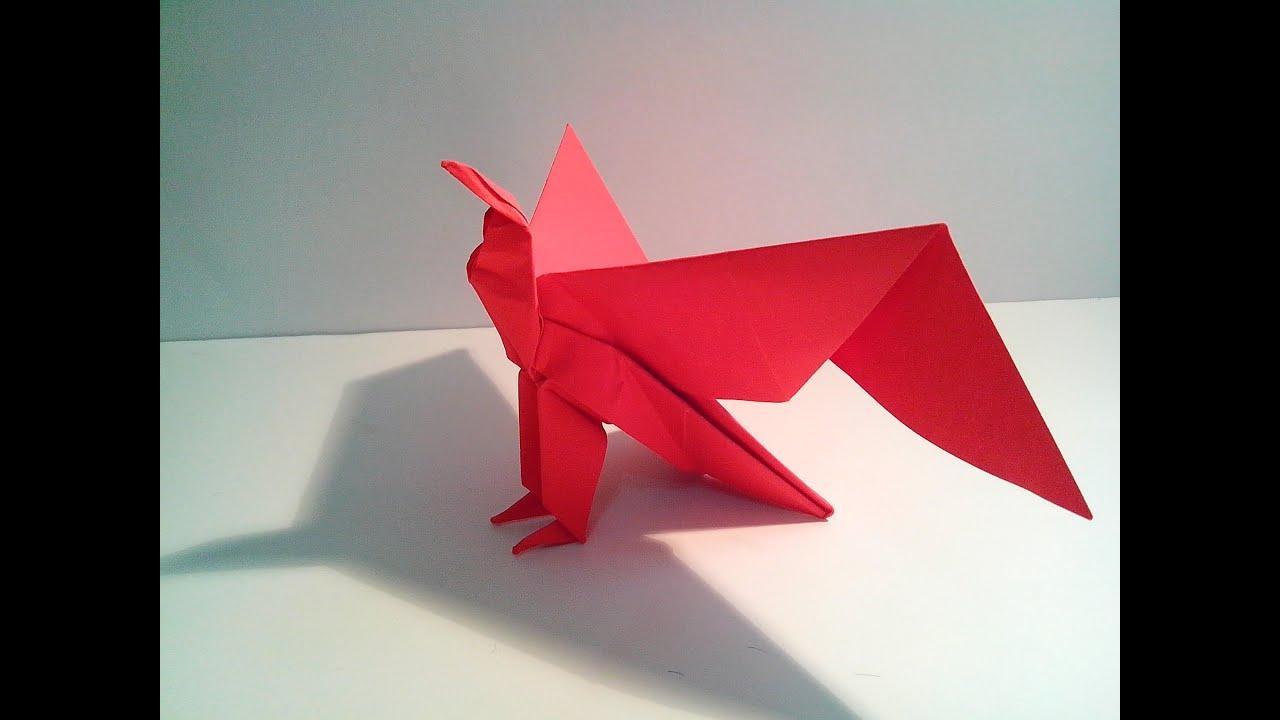 Como hacer un guila de papel origami en espa ol youtube - Como hacer cosas de papel paso a paso faciles ...