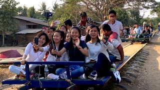 Bamboo Train at Battambang Province - Tourist Attraction in Cambodia