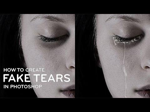 Photoshop Tutorial : Fake Tear Drops Manipulation [Photoshopdesire.com]