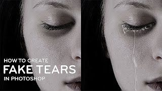 Photoshop Tutorial : Fake Tear Drops Manipulation [Photoshopdesire.com]