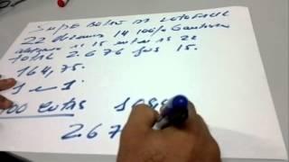 SUPER BOLÃO DA LOTOFÁCIL 22 DEZENAS FECHANDO 14 PONTOS