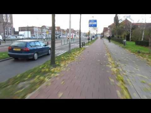 Bicycle infrastructure in the Netherlands.