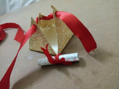 Pyramid Gift Box    Pyramid Letter small gift box for him    #diyideas