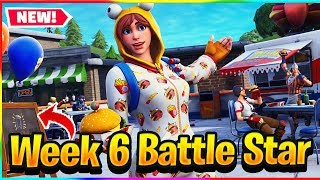 *NEW* FORTNITE WEEK 6 SECRET BATTLE STAR/BANNER LOCATION! | Fortnite Season 7 Challenge Guide