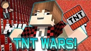 Minecraft: TNT Wars 4 Mini-Game! How To Build CRAZY TNT Cannons!