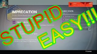 Destiny: How to get 7 kills spree for the Imprecation Quest Stupid Easy Strategy!