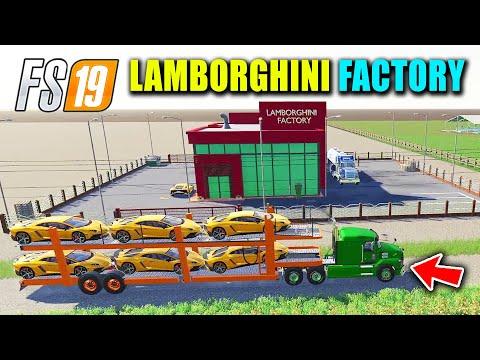 Lamborghini Aventador Luxury Cars Production Factory and Gas Station Business, FS19 Nebraska Map