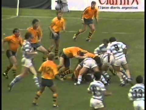 1987 Rugby Union Test Match: Australia Wallabies Vs Argentina Los Pumas (1st Test) (highlights)