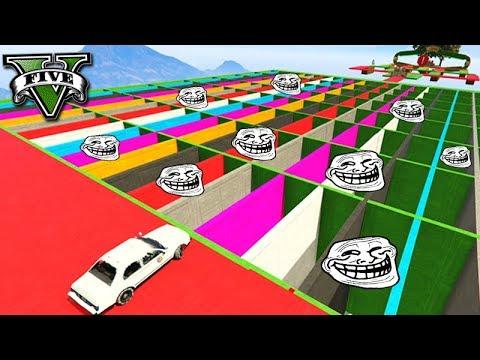 GTA V Online: O CHÃO INFINITO 999,9999% TROLL! (1 HORA foi DIFÍCIL)