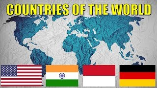 WORLD COUNTRIES - Learn All Countries of the World with Flags and Names