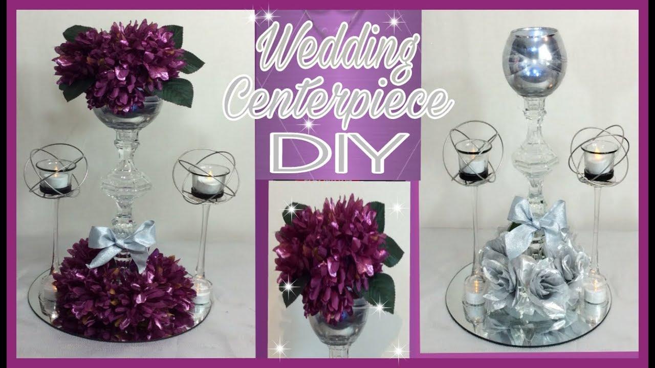 Diy lighted purple floral arrangement centerpiece silver wedding diy lighted purple floral arrangement centerpiece silver wedding centerpiece simply easy 15 junglespirit Image collections