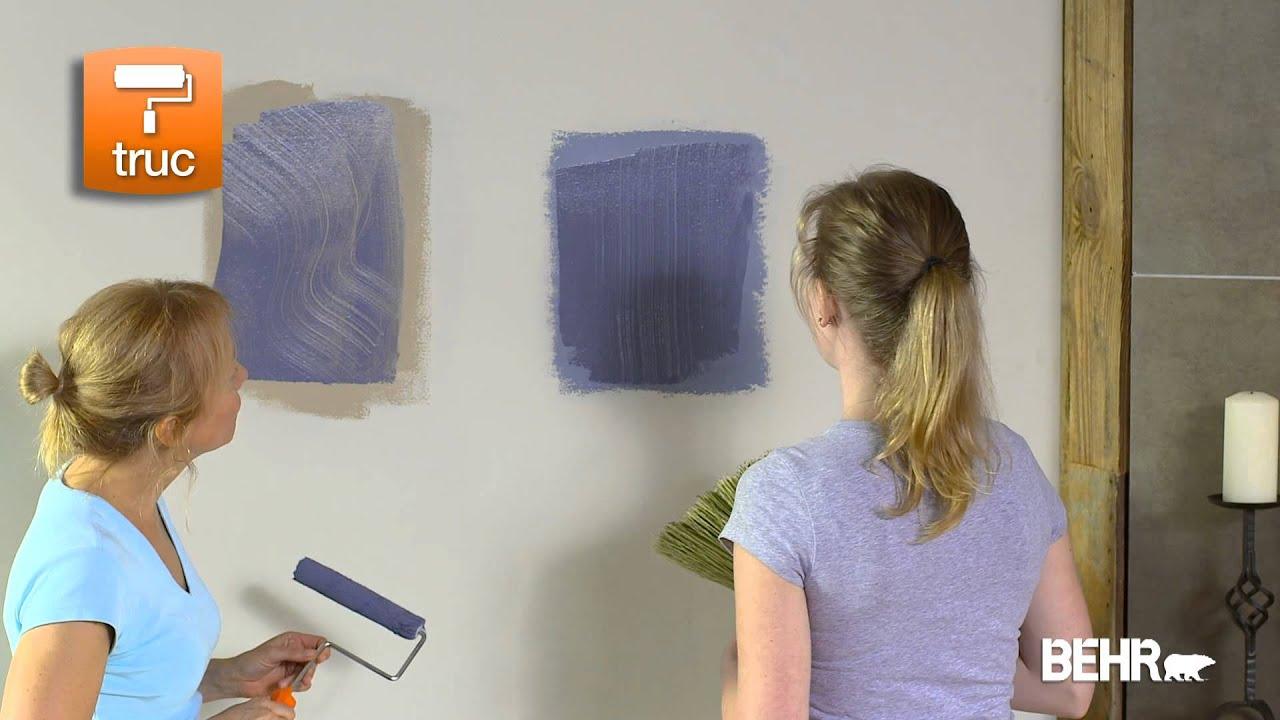 peinture behr: comment faire les faux-finis et finis décoratifs ... - Technique De Peinture Murale A L Eponge