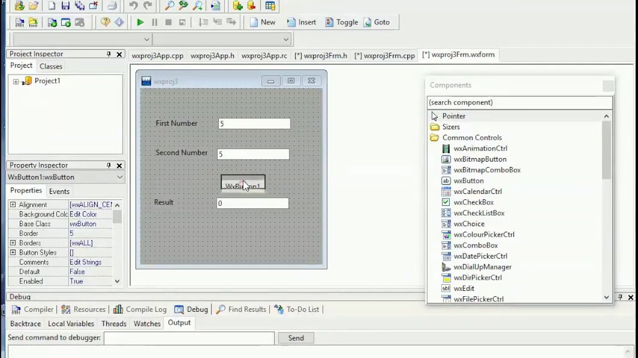 Demo: a simple gui app with C++ and WxDev-C++