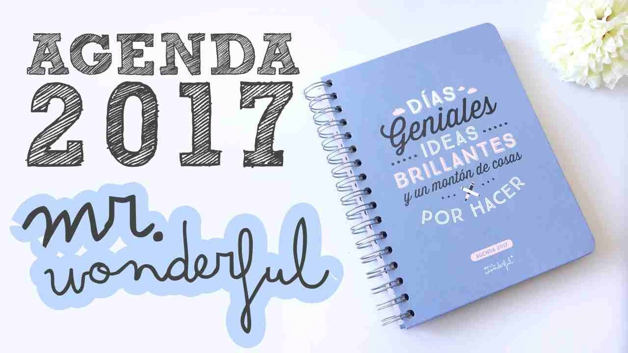 Mi agenda de 2017 mr wonderful semana vista youtube - Agenda de mr wonderful 2017 ...