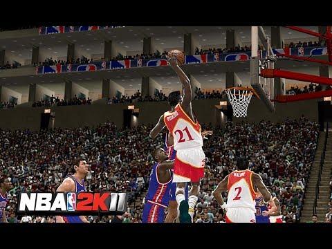 NBA 2K11 : 1990 Detroit Pistons Vs. Atlanta Hawks | 4K 60fps | PC Gameplay