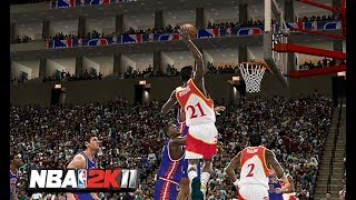 NBA 2K11 : 1990 Detroit Pistons Vs. Atlanta Hawks | 4K 60fps | PC Gameplay