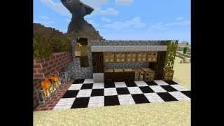 Как построить кухню в Minecraft !!!