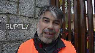Spain: Antifascist groups protest Franco exhumation at Valley of the Fallen