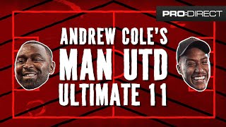 ULTIMATE MANCHESTER UNITED XI | YUNG FILLY MEETS UTD LEGEND ANDREW COLE