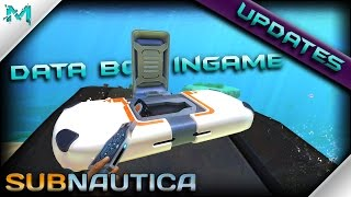 Subnautica UPDATES! Data Boxes Ingame and New Biome Crag FIeld!