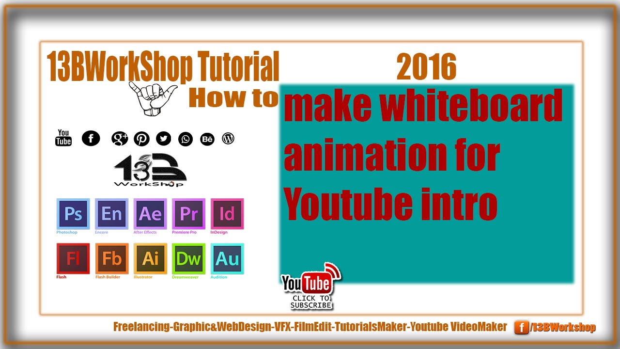How to make whiteboard animation for Youtube intro 2016 Updated