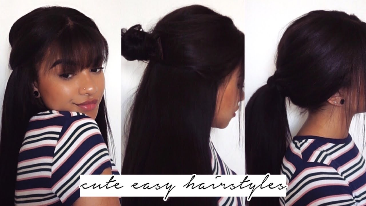 cute easy hairstyles using extensions relaxed hair youtube cute easy hairstyles using extensions relaxed hair pmusecretfo Image collections