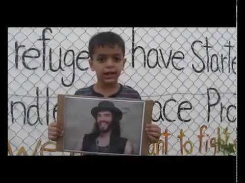 Refugees from Nauru thank Russell Brand
