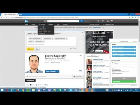 LinkedIn - (PART 4) Automatically add your signature to messages
