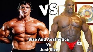 Arnold Schwarzenegger vs Ronnie Coleman ( Size And Aesthetics Vs Just Size! ) HD