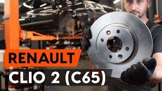 Como substituir discos de travão dianteiros noRENAULT CLIO 2 (C65) [TUTORIAL AUTODOC]
