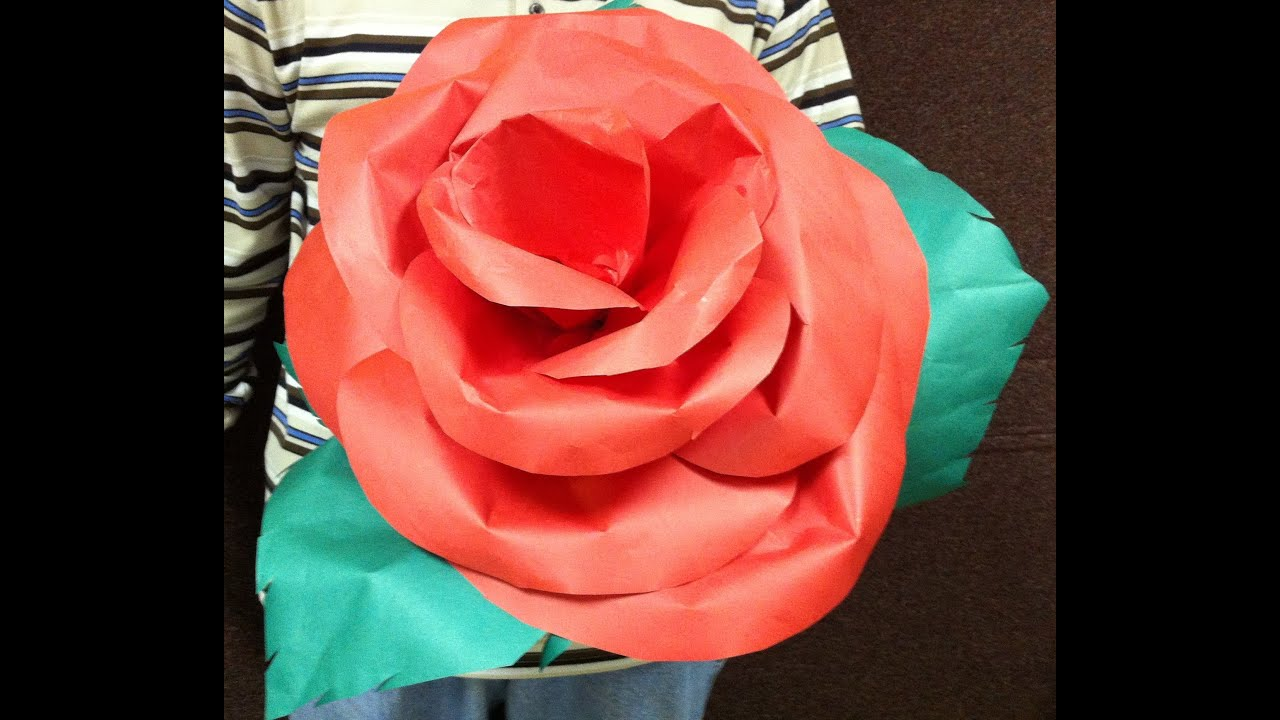 Learn How to make a Giant paper's flowers for Mother's Day ...