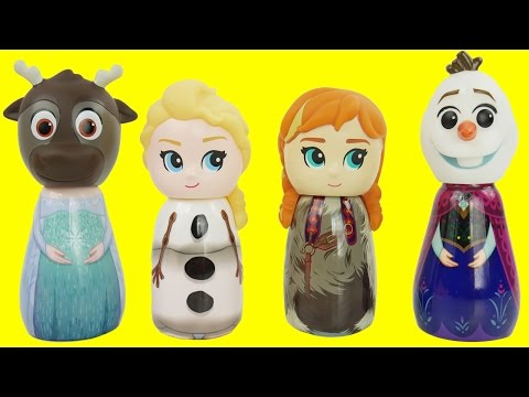 Match Disney Princess Frozen Elsa and Anna Wrong Heads & Bath Paint Surprises LEARN COLORS Toddlers