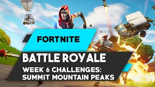 FORTNITE: Summit Different Mountains Peaks 10 LOCATIONS FOUND!