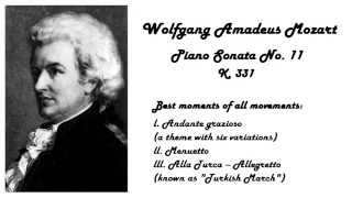 Wolfgang Amadeus Mozart - The best of Sonata no.11 in 432 Hz tuning