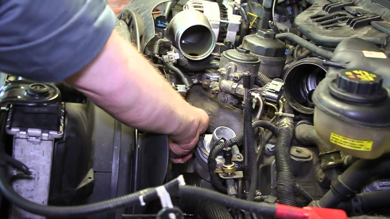 Ford 6 0 powerstroke engine coolant temperature sensor replacement youtube