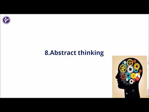 8 9 Cognitive function Abstract thinking