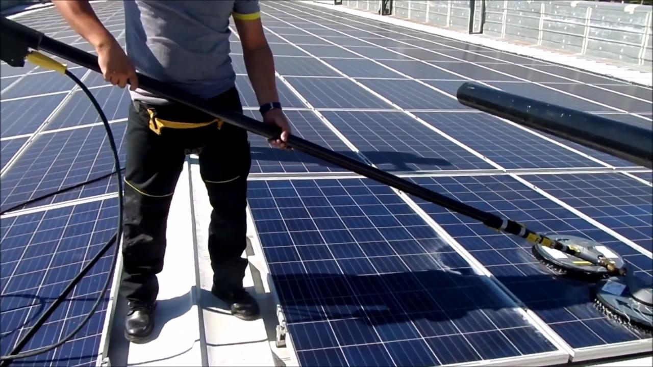 Sistema De Limpieza Paneles Solares Youtube