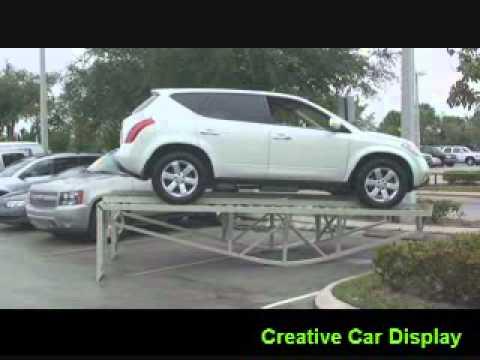 Car Display Ramps 4 Variable Position Display