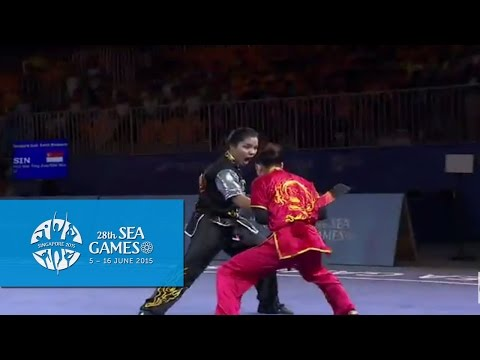 Wushu  Women's Duel Event  Weapon Day 1  28th SEA Games Singapore 2015